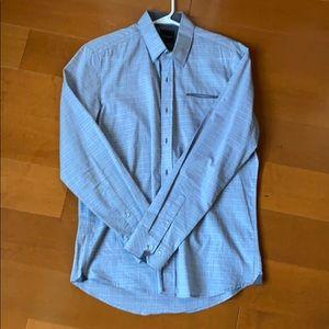 Dress shirt button down. Light gray Medium